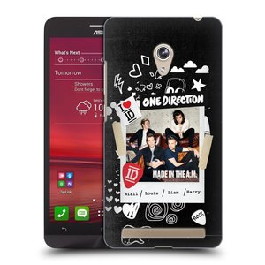 Plastové pouzdro na mobil Asus Zenfone 6 HEAD CASE One Direction - S kytárou