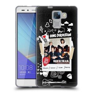 Silikonové pouzdro na mobil Honor 7 HEAD CASE One Direction - S kytárou