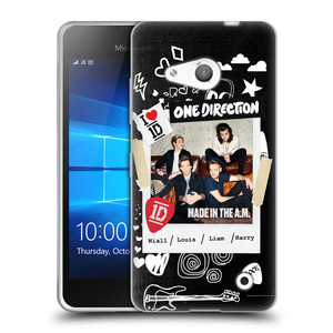 Silikonové pouzdro na mobil Microsoft Lumia 550 HEAD CASE One Direction - S kytárou