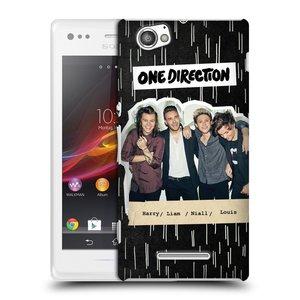 Plastové pouzdro na mobil Sony Xperia M C1905 HEAD CASE One Direction - Sticker Partička