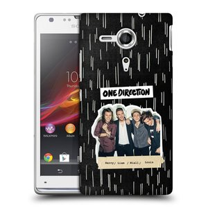 Plastové pouzdro na mobil Sony Xperia SP C5303 HEAD CASE One Direction - Sticker Partička