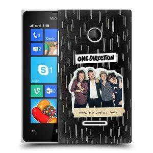 Plastové pouzdro na mobil Microsoft Lumia 435 HEAD CASE One Direction - Sticker Partička