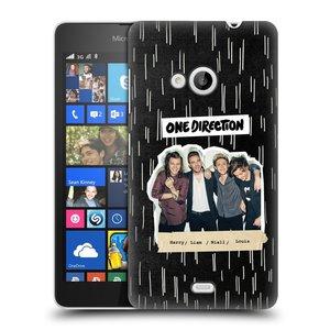 Plastové pouzdro na mobil Microsoft Lumia 535 HEAD CASE One Direction - Sticker Partička