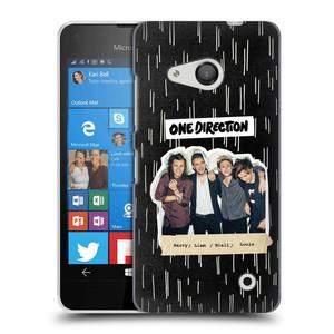 Plastové pouzdro na mobil Microsoft Lumia 550 HEAD CASE One Direction - Sticker Partička