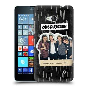 Plastové pouzdro na mobil Microsoft Lumia 640 HEAD CASE One Direction - Sticker Partička