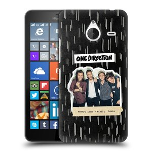 Plastové pouzdro na mobil Microsoft Lumia 640 XL HEAD CASE One Direction - Sticker Partička