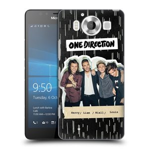 Plastové pouzdro na mobil Microsoft Lumia 950 HEAD CASE One Direction - Sticker Partička
