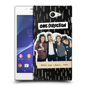 Plastové pouzdro na mobil Sony Xperia M2 D2303 HEAD CASE One Direction - Sticker Partička