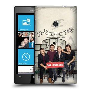 Plastové pouzdro na mobil Nokia Lumia 520 HEAD CASE One Direction - EST 2010