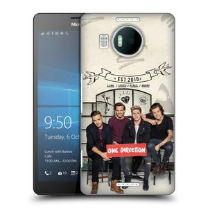 Plastové pouzdro na mobil Microsoft Lumia 950 XL HEAD CASE One Direction - EST 2010