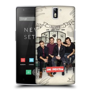 Plastové pouzdro na mobil OnePlus One HEAD CASE One Direction - EST 2010