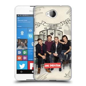 Plastové pouzdro na mobil Microsoft Lumia 650 HEAD CASE One Direction - EST 2010