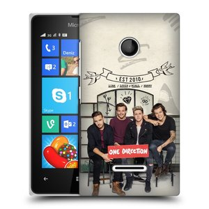 Plastové pouzdro na mobil Microsoft Lumia 435 HEAD CASE One Direction - EST 2010