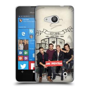Plastové pouzdro na mobil Microsoft Lumia 550 HEAD CASE One Direction - EST 2010