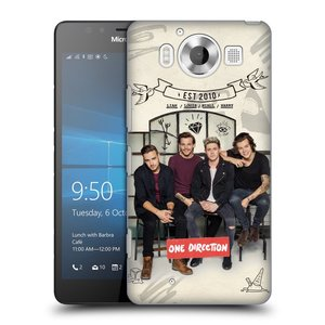 Plastové pouzdro na mobil Microsoft Lumia 950 HEAD CASE One Direction - EST 2010