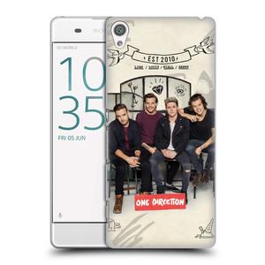 Plastové pouzdro na mobil Sony Xperia XA HEAD CASE One Direction - EST 2010