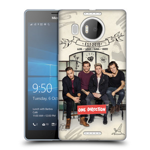 Silikonové pouzdro na mobil Microsoft Lumia 950 XL HEAD CASE One Direction - EST 2010