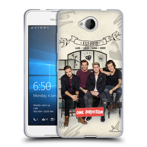 Silikonové pouzdro na mobil Microsoft Lumia 650 HEAD CASE One Direction - EST 2010