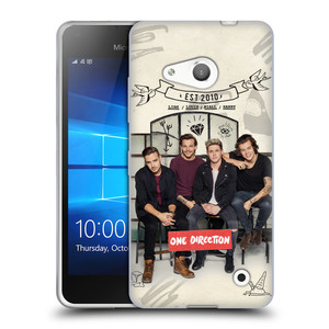 Silikonové pouzdro na mobil Microsoft Lumia 550 HEAD CASE One Direction - EST 2010
