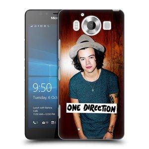 Plastové pouzdro na mobil Microsoft Lumia 950 HEAD CASE One Direction - Harry