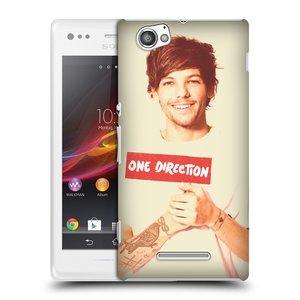 Plastové pouzdro na mobil Sony Xperia M C1905 HEAD CASE One Direction - Louis