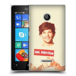 Plastové pouzdro na mobil Microsoft Lumia 435 HEAD CASE One Direction - Louis