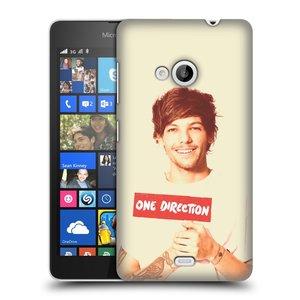 Plastové pouzdro na mobil Microsoft Lumia 535 HEAD CASE One Direction - Louis