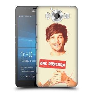 Plastové pouzdro na mobil Microsoft Lumia 950 HEAD CASE One Direction - Louis