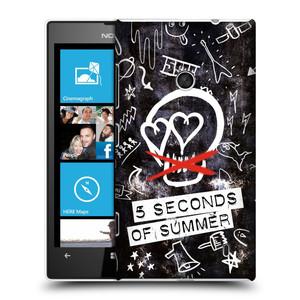 Plastové pouzdro na mobil Nokia Lumia 520 HEAD CASE 5 Seconds of Summer - Skull