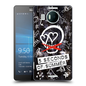 Plastové pouzdro na mobil Microsoft Lumia 950 XL HEAD CASE 5 Seconds of Summer - Skull