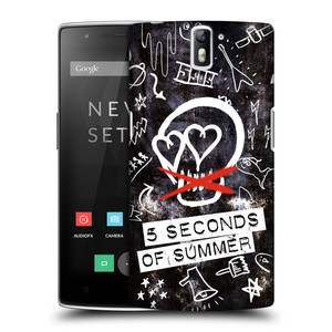Plastové pouzdro na mobil OnePlus One HEAD CASE 5 Seconds of Summer - Skull