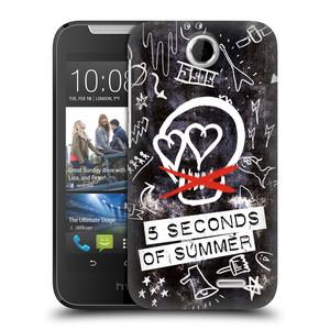 Plastové pouzdro na mobil HTC Desire 310 HEAD CASE 5 Seconds of Summer - Skull
