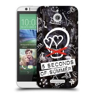 Plastové pouzdro na mobil HTC Desire 510 HEAD CASE 5 Seconds of Summer - Skull