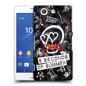 Plastové pouzdro na mobil Sony Xperia Z3 Compact D5803 HEAD CASE 5 Seconds of Summer - Skull