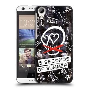 Plastové pouzdro na mobil HTC Desire 626 / 626G HEAD CASE 5 Seconds of Summer - Skull