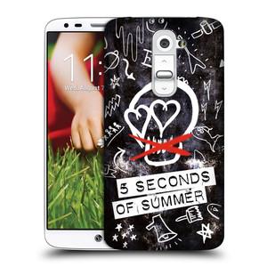 Plastové pouzdro na mobil LG G2 HEAD CASE 5 Seconds of Summer - Skull