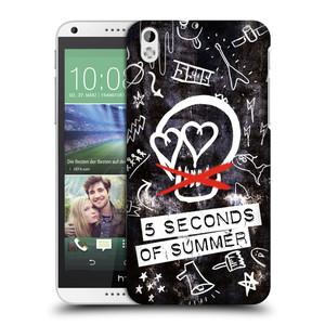 Plastové pouzdro na mobil HTC Desire 816 HEAD CASE 5 Seconds of Summer - Skull