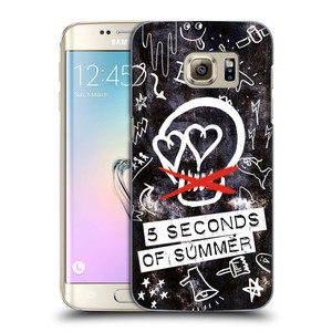 Plastové pouzdro na mobil Samsung Galaxy S7 Edge HEAD CASE 5 Seconds of Summer - Skull