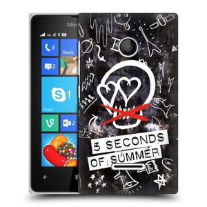 Plastové pouzdro na mobil Microsoft Lumia 435 HEAD CASE 5 Seconds of Summer - Skull