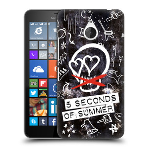Plastové pouzdro na mobil Microsoft Lumia 640 XL HEAD CASE 5 Seconds of Summer - Skull