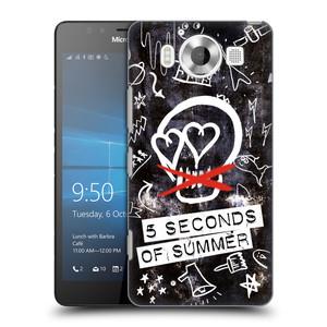 Plastové pouzdro na mobil Microsoft Lumia 950 HEAD CASE 5 Seconds of Summer - Skull