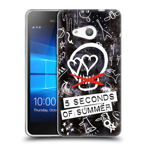 Silikonové pouzdro na mobil Microsoft Lumia 550 HEAD CASE 5 Seconds of Summer - Skull