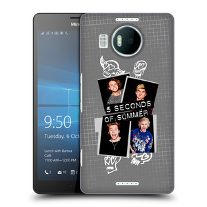 Plastové pouzdro na mobil Microsoft Lumia 950 XL HEAD CASE 5 Seconds of Summer - Band Grey