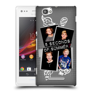 Plastové pouzdro na mobil Sony Xperia M C1905 HEAD CASE 5 Seconds of Summer - Band Grey