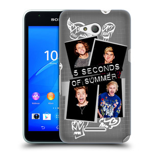 Plastové pouzdro na mobil Sony Xperia E4g E2003 HEAD CASE 5 Seconds of Summer - Band Grey