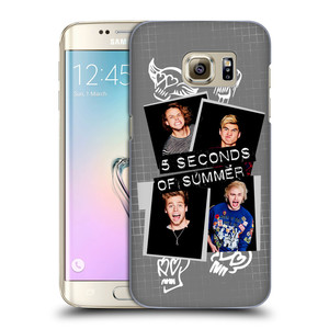 Plastové pouzdro na mobil Samsung Galaxy S7 Edge HEAD CASE 5 Seconds of Summer - Band Grey