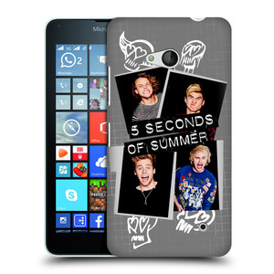 Plastové pouzdro na mobil Microsoft Lumia 640 HEAD CASE 5 Seconds of Summer - Band Grey