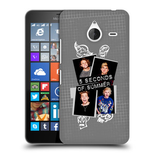 Plastové pouzdro na mobil Microsoft Lumia 640 XL HEAD CASE 5 Seconds of Summer - Band Grey