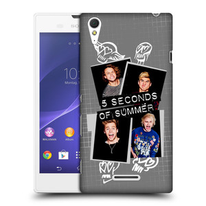 Plastové pouzdro na mobil Sony Xperia T3 D5103 HEAD CASE 5 Seconds of Summer - Band Grey