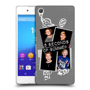 Plastové pouzdro na mobil Sony Xperia Z3+ (Plus) HEAD CASE 5 Seconds of Summer - Band Grey